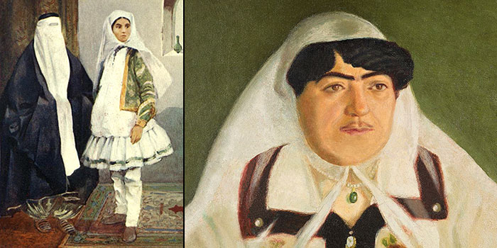 Dress and makeup of Qajar women