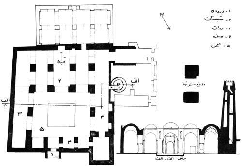 پلان مسجد جامع فهرج
