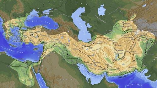 نقشه امپراطوری اسكندر