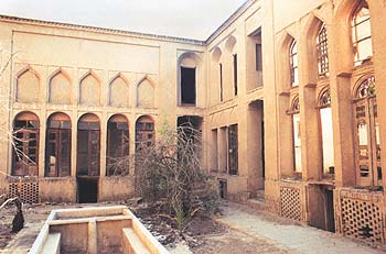 bigger courtyard of Mazar house