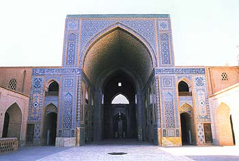 Eyvan of Yazd jame mosque