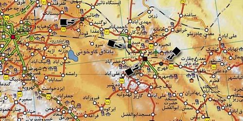 نقشه شهرستان يزد از استان اصطخر