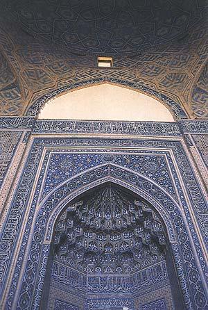 محراب و گنبد مسجد جمعه یزد